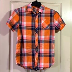 Arizona Button Down plaid shirt size 18/20 XL